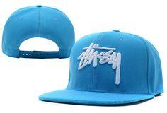 Stussy Stock Snapback Hats Blue Snapback Hats e4edd4d75f8b