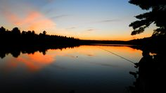 Fishing on Joeperry Lake at sunset. Travel And Tourism, Outdoor Travel, The Great Outdoors, Ontario, Fishing, Canada, Camping, Celestial, Sunset