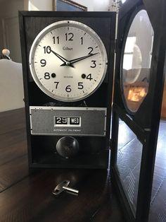 0749e164f38 Gilbert Automatic Calendar 31 Days Calendar Key Wound Wall Clock - Running!