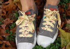 Sew your own shoe laces! Super cute idea, especially for kids :)