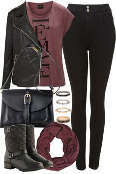 styleselection: Untitled #565 by im-emma featuring a black biker jacket