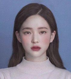 Asian Makeup, Korean Makeup, Korean Beauty, Beauty Makeup, Eye Makeup, Hair Makeup, Hair Beauty, Ponytail Drawing, Ulzzang Makeup