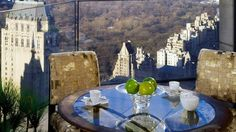Where can you get this stunning view at New York but at Ty Warner Penthouse, Four Seasons Hotel, New York