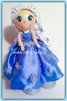 This is a handmade doll. She is made using foam sheets She is about 12inches weight of the decor is approx 08 oz. Is your child having a Disney Frozen theme party? Take a look at this fofucha doll. She can be an eye catching Centerpiece or caketopper. I can add your child's name at no additional cost.  I can make custom fofuchas just get in contact with me. Let me know if this isn't the color you would like I can make it for you. www.facebook.com/fofuchashandmadedolls #Frozen #Disney…