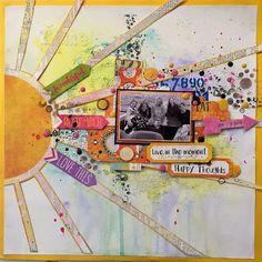 Hekta på papirkunst: Lay Out med Sommerstemning, DT for Scrappiness Layout, Scrapbook, Cards, Page Layout, Scrapbooking, Maps, Playing Cards, Guest Books, Scrapbooks