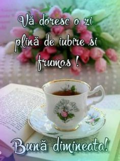 Imagini buni dimineata si o zi frumoasa pentru tine! - BunaDimineataImagini.ro Coffee Flower, Alphabet Print, Diy Flowers, Flower Diy, Words Of Encouragement, Good Morning, Google, Tea Cups, Diy Crafts