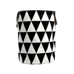 Triangle Laundry Basket - Black by Ferm Living