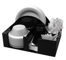 paper plate holders | Amazon.com Paper Plate and bowl Holder Napkin Dispenser Knife  sc 1 st  Pinterest & Paper Plate Dispenser and Appetizers Plate Bowl or Napkin barbecue ...