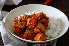 Indické kuřecí kari s rajčaty Garam Masala, Food And Drink, Pizza, Meat, Chicken, Cooking, Ethnic Recipes, Vietnam, India