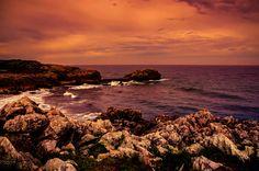 Another sunset - Sunset at La Huelga beach.