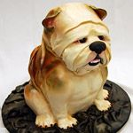 This is an overweight Puggle cake.