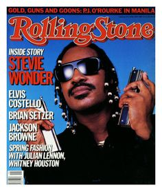 Stevie Wonder on the cover of Rolling Stone Magazine