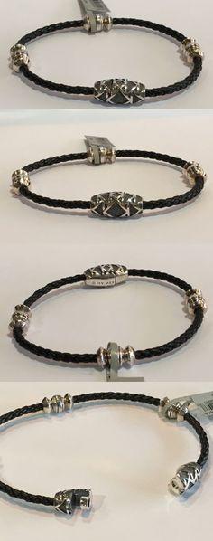 Bracelets 137835: David Yurman Mens Sterling Silver Frontier Bead Leather Bracelet Nwt $450 -> BUY IT NOW ONLY: $346.75 on eBay!