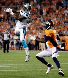 ... intercepts a pass intended for Denver Broncos wide receiver Emmanuel  Sanders during the second half of an NFL football game 05454366f7c46
