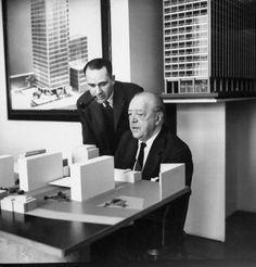 """La arquitectura es la plasmación de la voluntad de la época  Frases de arquitectos """"Rechazamos cualquier especulación estética, cualquier doctrina y formalismo. La arquitectura es la plasmación espacial de la voluntad de la época. Algo vivo. Cambiante, nuevo"""" Mies van der Rohe"""