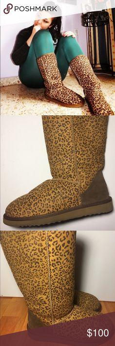 Women UGG 5815 Classic Tall Boots Leopard Print Women UGG 5815 Classic Tall Boots Leopard Print in EUC😁 UGG Shoes Winter & Rain Boots