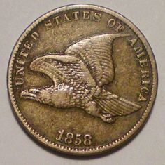 Always look for the 1857 Doubled Eye! I bought one! They didn't know it for what it was..... This is one fine looking coin! The Flying Eagle cent is a United States coin that was minted from 1856 to 1858. The coin was designed by James B. Longacre. The Flying Eagle was the first small-sized cent coin minted in the US, replacing the earlier large cent.