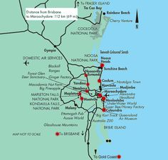 Tourist Map of the Sunshine Coast