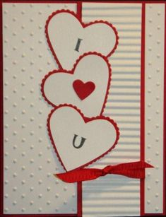 amour Deco Saint Valentin, Valentine Love Cards, Homemade Valentine Cards, Cute Cards, Diy Cards, Wedding Anniversary Cards, Wedding Cards, Holiday Cards, Christmas Cards