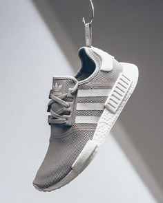 """Will the @adidas NMD_R1 """"Grey"""" sneakers make it into your rotation? :@sneakerpolitics by highsnobiety"""