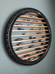 Home Crafts, Diy Home Decor, Hot Wheels Display, Boys Bedroom Decor, Car Bedroom Ideas For Boys, Boys Car Bedroom, Boy Room, Diy Furniture, Diy Projects