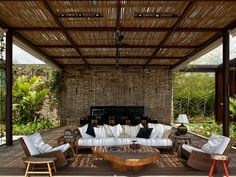 Dreamy whites, traditional porches, comfortable hammocks and beautiful flowers transform outdoor areas in sublime heavens!  Furnishing a protected outdoor space — whether that's a covered ter…