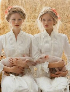 Why is everyone staring at us, Ingrid? I don't know, could it be we brought our wee pigs with us?....................