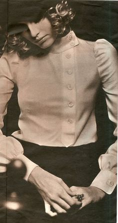 Biba side-buttoning crepe blouse, 1968