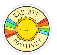 Pegatinas «Irradiar positividad» de hellobubblegum | Redbubble