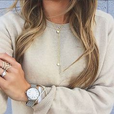 Acing the jewelry game! // Follow @ShopStyle on Instagram for more inspo.