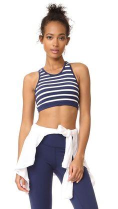 Beyond Yoga x Kate Spade New York Sailing Stripe Bralette