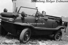 A very rare VW Type 128 Schwimmwagen built in 1941. Only 30 were built and it was found to be unstable in the water and on had performance on terrain due to its long hull design. This was remedied by the introduction of the Type 166 beginninng in 1942 with a more compact hull design.