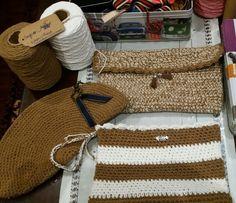 Carteras crochet de hilo de algodón ( agujas del 4)