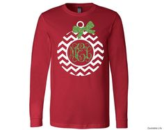 Monogram Chevron Christmas Ornament // Holiday // by QuotableLife - Holiday Shirts - Ideas of Holiday Shirts - Monogram Chevron Christmas Ornament // Holiday // by QuotableLife Christmas Monogram Shirt, Christmas Vinyl, Chevron Christmas, Christmas Shirts, Christmas Ornament, Christmas Outfits, Xmas, Christmas Projects, Christmas Decor