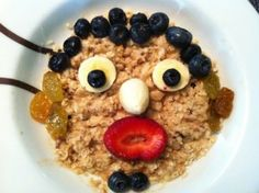 Oatmeal with a face!