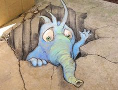 funny street art by david zinn