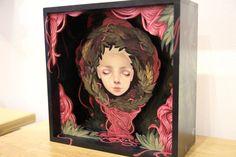 Kelsey Beckett - In box. Giant Robot groupshow curated by Audrey Kawasaki Posca Art, Lowbrow Art, Art Sketchbook, Box Art, Art Inspo, Sculpture Art, Art Drawings, Pencil Drawings, Art Reference