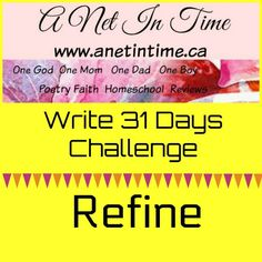 Part of the write31challenge, let us willingly be refined. http://www.anetintime.ca/2017/10/let-yourself-be-refined.html