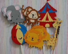 Circus centerpieces by pattyspartysupplies on Etsy