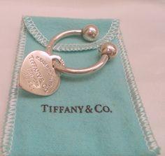 Tiffany & Co. Sterling Silver Heart Keychain by Zeppola on Etsy