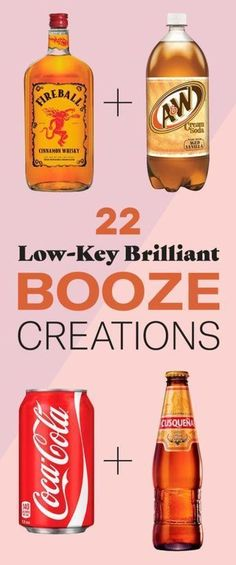 22 Bizarre Alcohol Combinations That Actually Taste Amazing Definitely plan on making a few of these! 22 Bizarre Alcohol Combinations That Actually Taste Amazing Definitely plan on making a few of these! Beste Cocktails, Cocktails Bar, Liquor Drinks, Cocktail Drinks, Cocktail Recipes, Fireball Drinks, Cocktail Maker, Bourbon Drinks, Martinis