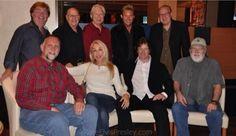 Top left: Paul Leim, Joe Esposito, Glen D. Hardin, Dennis Jale, Norbert Putnam. Bottom left: Sam Thompson, Linda Thompson, Jerry Schilling, Ronnie Tutt.