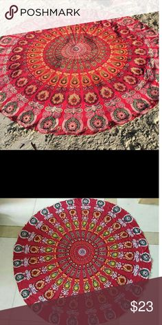 Round tapestry Round tapestry wall hanging  beach throw Table cloth  Window decor Couch throw  Towel yoga mat  Boho decor 100% cotton Swim Jean Jackets