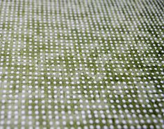 Handmade origami paper  White dots on Green