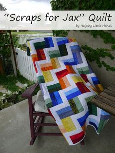 Scraps for Jax - Stripey Scrap Quilt...Really Easy to Put Together
