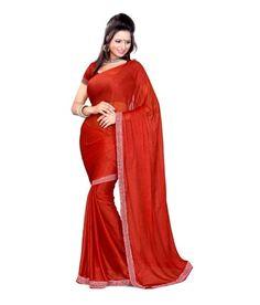 Maroon Colored Lycra Saree Sarees on Shimply.com