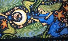sea life folk art - Google Search