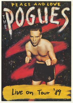 The Pogues Peace and Love 1989 Tour Poster 24x34
