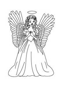 german angel coloring pages bing images - Coloring Pages Of Angels