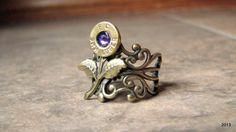 Bullet Flower Ring Bullet Jewelry Ammo by BellaDonnaJewelryCo, $23.50